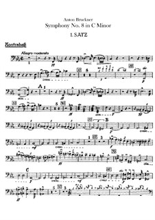 Sinfonie Nr.8 in c-Moll, WAB 108: Kontrabassstimme by Anton Bruckner