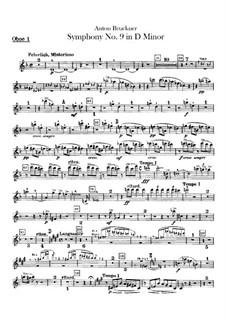 Sinfonie Nr.9 in d-Moll, WAB 109: Oboenstimmen by Anton Bruckner