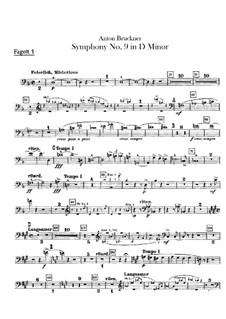 Sinfonie Nr.9 in d-Moll, WAB 109: Fagottstimmen by Anton Bruckner