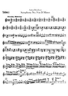 Sinfonie Nr.9 in d-Moll, WAB 109: Violinstimme I by Anton Bruckner