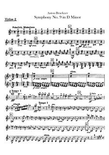 Sinfonie Nr.9 in d-Moll, WAB 109: Violinstimme II by Anton Bruckner