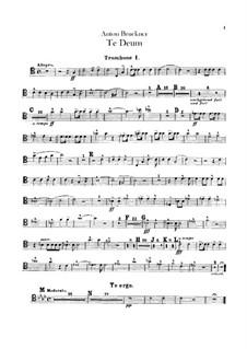 Te Deum Laudamus, WAB 45: Posaunen- und Tubastimmen by Anton Bruckner