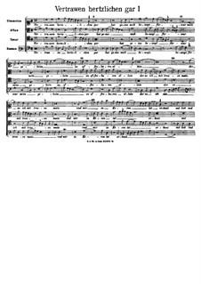 Vertrawen hertzlichen gar: Fassung I by Arnold von Bruck