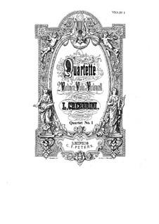 Streichquartett Nr.1 in Es-Dur: Stimmen by Luigi Cherubini