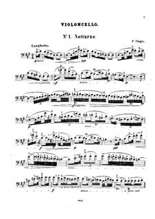 Nocturnen, Op.15: Nr.2, für Cello und Klavier – Solo Stimme by Frédéric Chopin