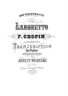 Fragmente: Teil II. Version für Violine und Klavier by Frédéric Chopin