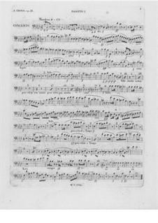 Vollständiger Konzert: Fagottstimme I by Frédéric Chopin
