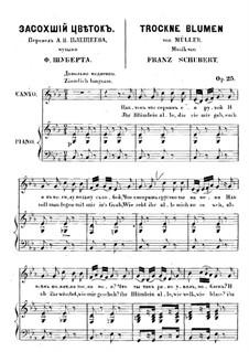 Nr.18 Trockne Blumen: Klavierauszug mit Singstimmen by Franz Schubert