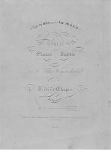 Variationen über Thema 'Là ci darem la mano' aus 'Don Giovanni' von Mozart, Op.2: Bratschenstimme by Frédéric Chopin