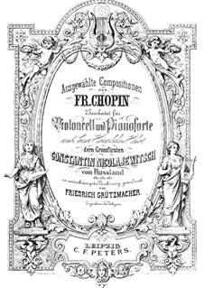 Sonate für Klavier Nr.2 in b-Moll, Op.35: Teil III, für Cello und Klavier by Frédéric Chopin