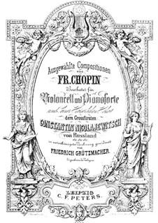 Nocturnen, Op.37: Nr.1, für Cello und Klavier by Frédéric Chopin