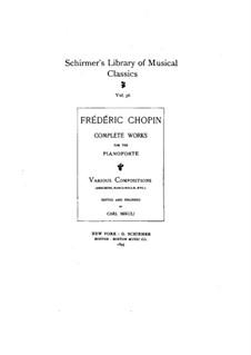 Allegro de concert, Op.46: Für Klavier by Frédéric Chopin