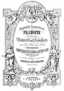 Nr.1 in Des-Dur: Für Cello und Klavier by Frédéric Chopin