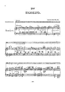 Cellokonzert Nr.2 in a-Moll, Op.14: Partitur für zwei Interpreten, Solostimme by Karl Dawidow