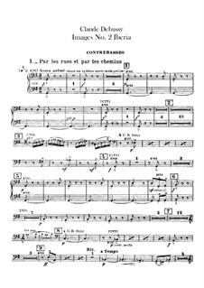 Set III, No.2 Iberia, L.122: Kontrabass-Stimme by Claude Debussy