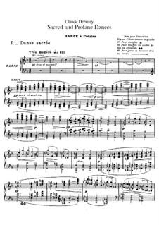 Zwei Tänze für Harfe und Streichquintett, L.103: Solostimme by Claude Debussy
