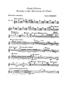 Prélude à l'après-midi d'un faune (Vorspiel zum Nachmittag eines Faunes), L.86: Beckenstimme by Claude Debussy