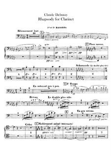 Rhapsodie Nr.1 in Ges-Dur, L.116: Fagottstimme by Claude Debussy