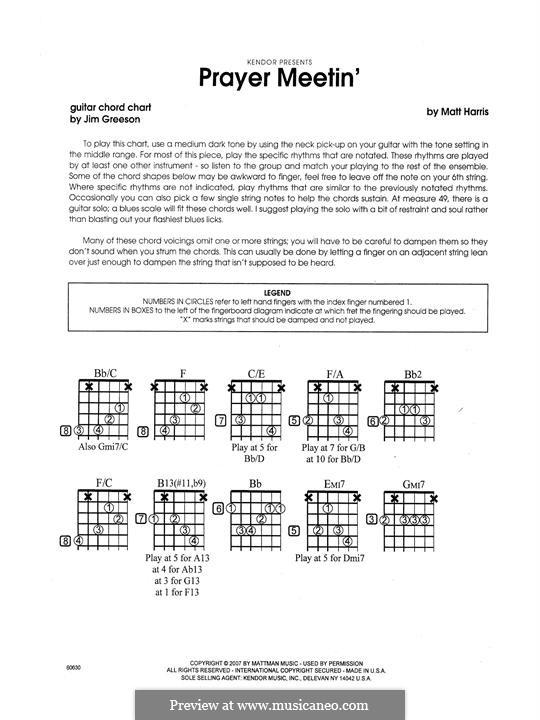 Prayer Meetin': Gitarrenstimme by Matthew Harris