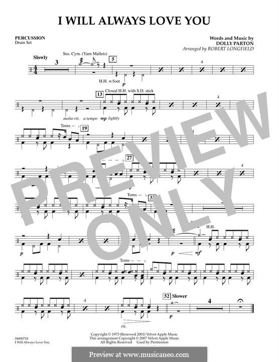 I Will Always Love You (Whitney Houston) instrumental version: For string orchestra – Piano part by Dolly Parton