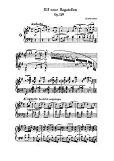 Elf neue Bagatellen für Klavier, Op.119: Bagatelle Nr.6 by Ludwig van Beethoven
