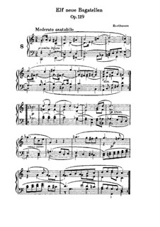 Elf neue Bagatellen für Klavier, Op.119: Bagatelle Nr.8 by Ludwig van Beethoven