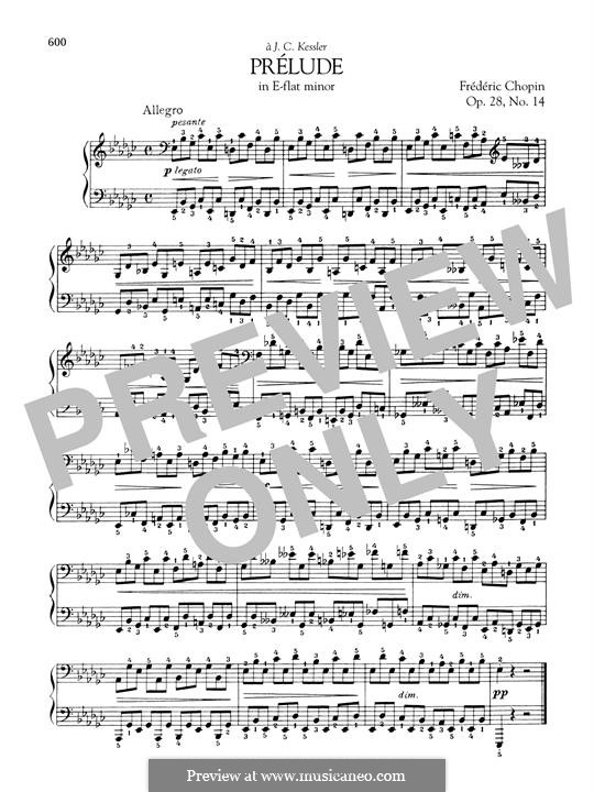 Nr.14 in es-Moll: Für Klavier by Frédéric Chopin