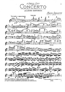 Violinkonzert in e-Moll, Op.30: Solostimme by Marco Anzoletti