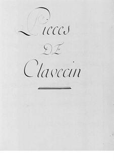 Cembalostücke: Stücke für Cembalo by Claude-Bénigne Balbastre