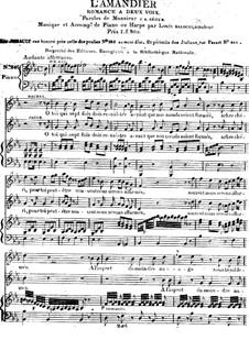 L'Amandier. Romanze für zwei Stimmen und Klavier (oder Harfe): L'Amandier. Romanze für zwei Stimmen und Klavier (oder Harfe) by Luigi Balocchi