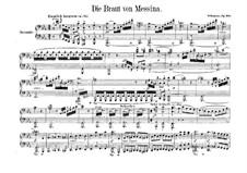 Die Braut von Messina, Op.100: Für Klavier, vierhändig by Robert Schumann