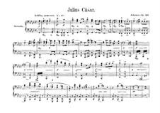 Julius Cäsar, Op.128: Ouvertüre für Klavier, vierhändig by Robert Schumann