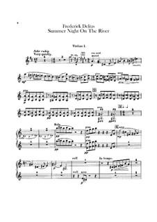 Sommernacht am Fluss: Violinstimme by Frederick Delius