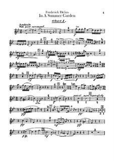 In einem Sommergarten: Oboen- und Englischhornstimmen by Frederick Delius