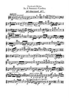 In einem Sommergarten: Klarinettenstimmen by Frederick Delius