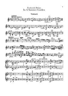 In einem Sommergarten: Violinstimme I by Frederick Delius