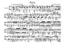Szenen aus Goethes Faust: Ouvertüre für Klavier, vierhändig by Robert Schumann