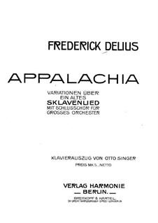 Appalachia: Appalachia by Frederick Delius