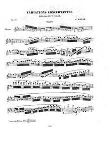 Konzert-Variationen über Romanze von Pacini für Stimme, Violine und Klavier, Op.17: Violinstimme by Alexandre Joseph Artôt