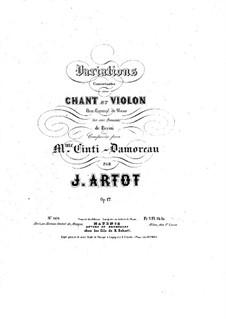 Konzert-Variationen über Romanze von Pacini für Stimme, Violine und Klavier, Op.17: Vollpartitur by Alexandre Joseph Artôt
