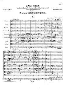 Zwei Arien zu 'Die Schöne Schusterin' von I. Umlauf, WoO 91: Zwei Arien zu 'Die Schöne Schusterin' von I. Umlauf by Ludwig van Beethoven
