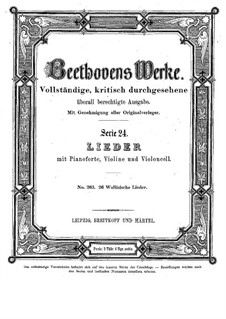 Sechsundzwanzig walisische Lieder, WoO 155: Sechsundzwanzig Walisische Lieder by Ludwig van Beethoven