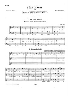 Fünf Kanons: Fünf Kanons by Ludwig van Beethoven