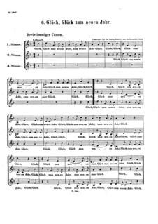 Glück, Glück zum neuen Jahr, WoO 176: Kanon für drei Stimmen by Ludwig van Beethoven