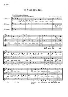 Kühl, nicht lau, WoO 191: Kanon für drei stimme by Ludwig van Beethoven