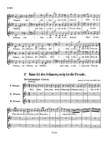 Kurz ist der Schmerz, WoO 166: Kurz ist der Schmerz by Ludwig van Beethoven