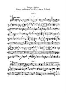 Nr.1, 3, 10: Für Orchester – Waldhornstimmen by Johannes Brahms