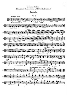 Nr.1, 3, 10: Für Orchester – Bratschenstimme by Johannes Brahms