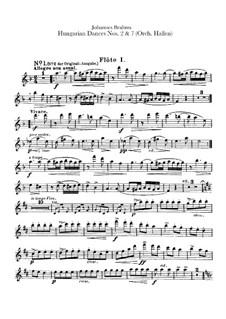 Nr.2, 7: Für Orchester – Flötenstimmen by Johannes Brahms