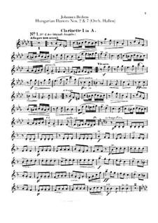 Nr.2, 7: Für Orchester – Klarinettenstimmen by Johannes Brahms
